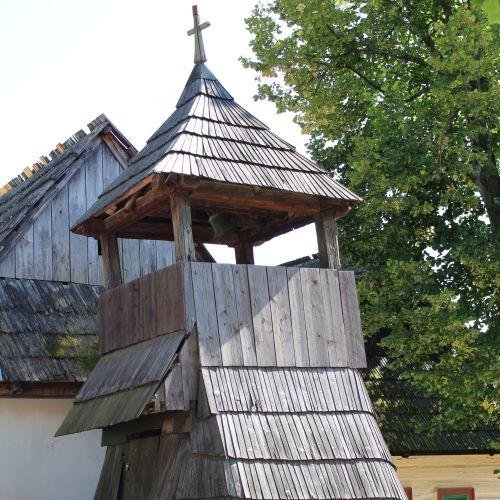 Drevená zrubová zvonica